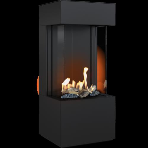 Kratki LEO 45/68 lewy / prawy z zabudową HOME EASY BOX stalowy - czarny na gaz ziemny