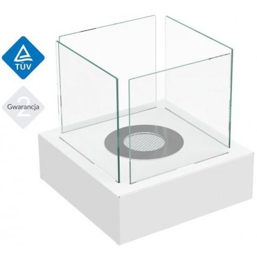 TANGO 3 biały z certyfikatem TÜV - Biokominek Kratki
